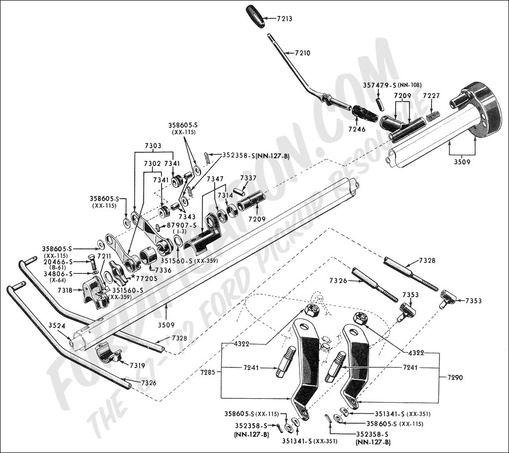 Front End Rebuild Kits also 1966 Fairlane Steering Column Diagram also My Rebuild Power Steering furthermore Discussion T10172 ds650657 besides Schematics h. on 1964 chevy truck steering column diagram