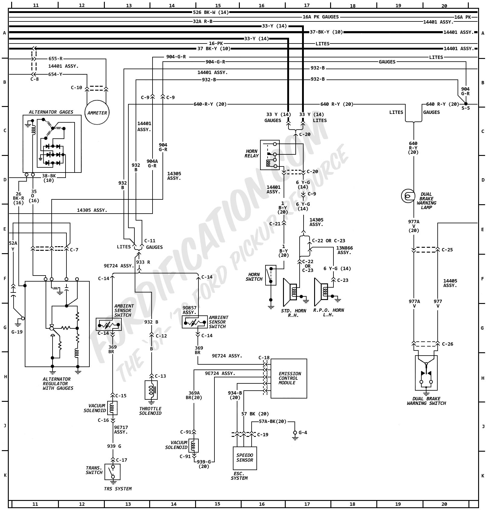1972MasterWiring_02 1972 ford truck wiring diagrams fordification com  at edmiracle.co