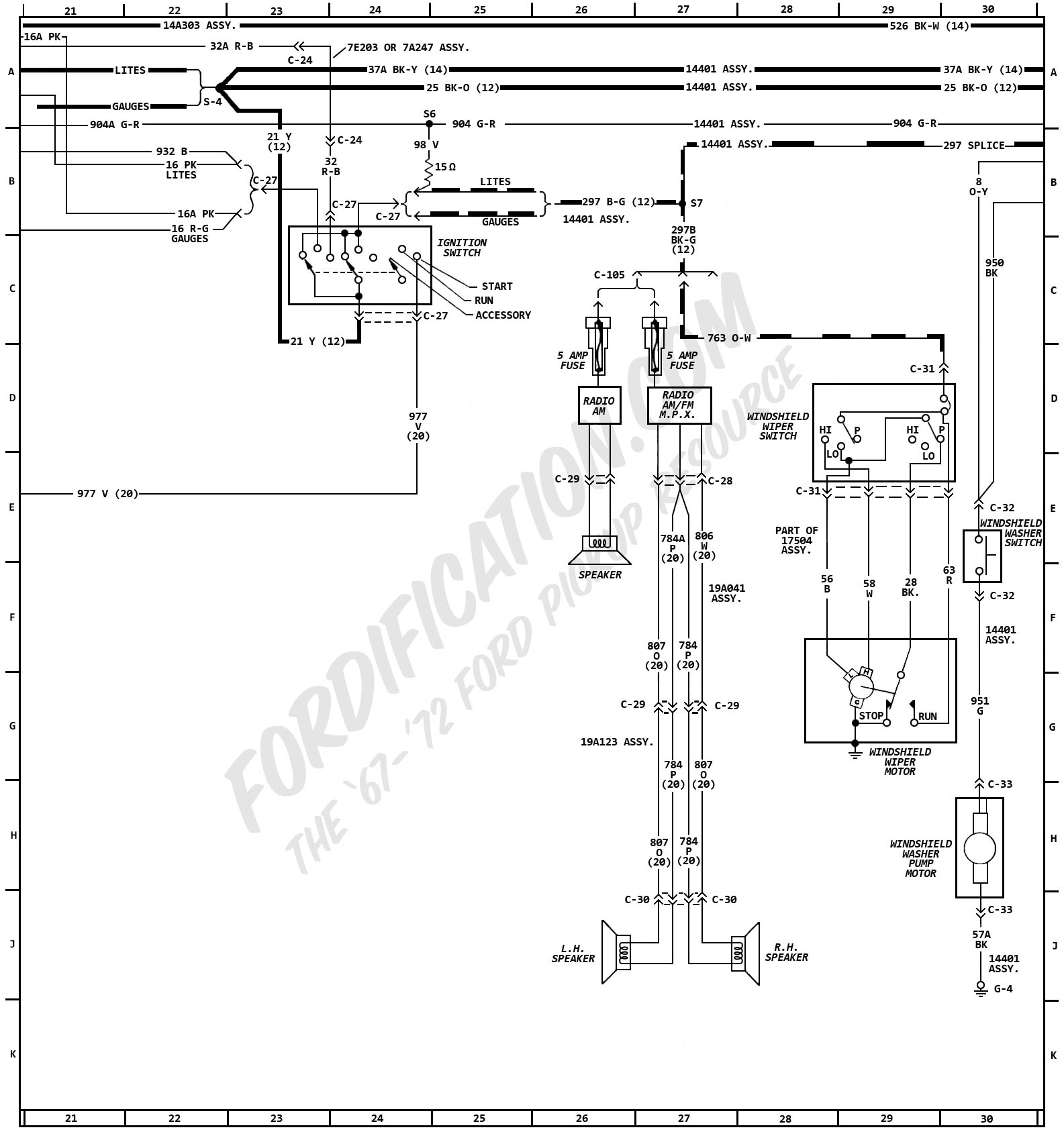 1972MasterWiring_03 1972 ford truck wiring diagrams fordification com 1970 Ford F-250 Wiring Diagram at soozxer.org