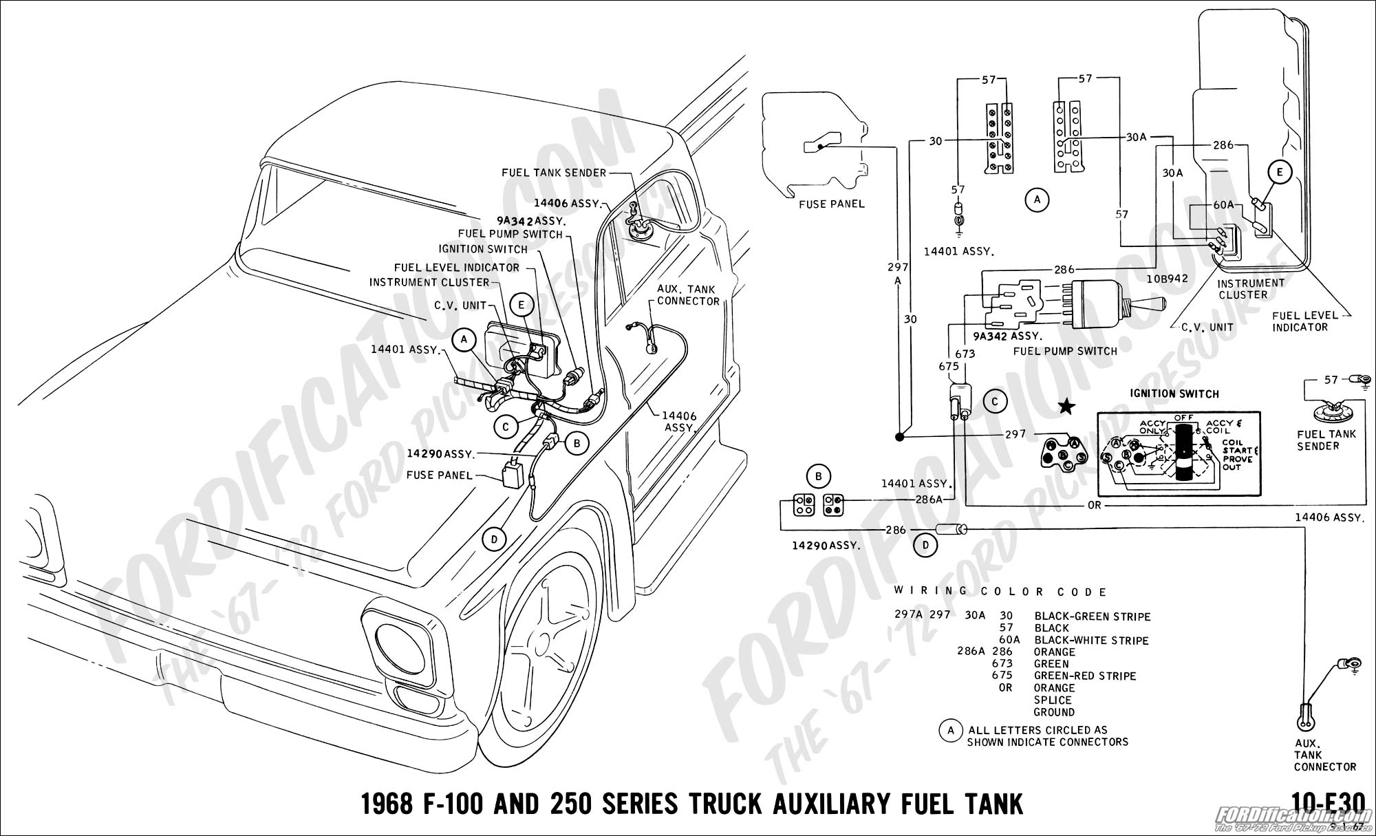 1968 ford fuel gauge wiring diagram