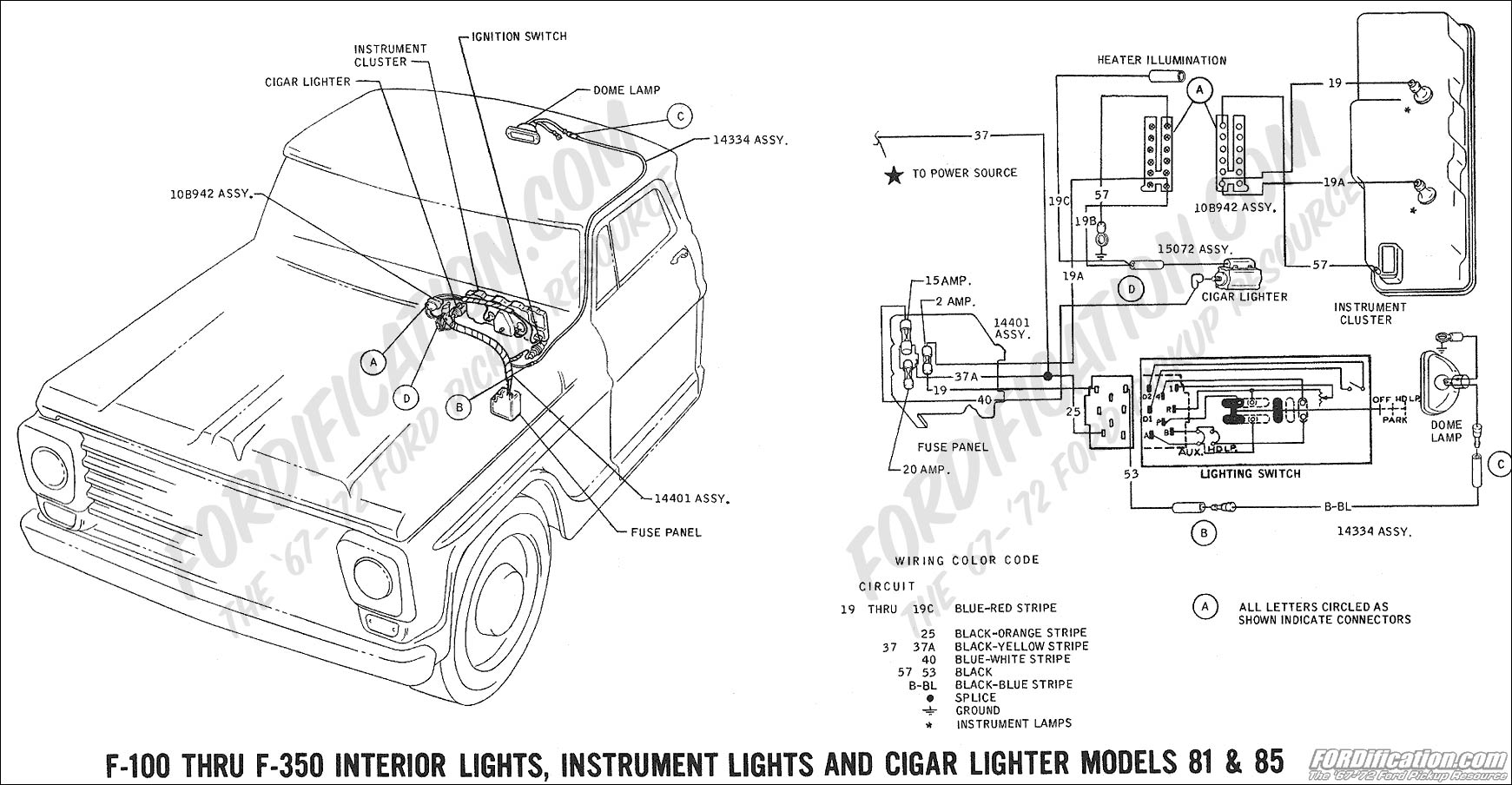 69wiring_interiorlights models81 85 ford truck technical drawings and schematics section h wiring