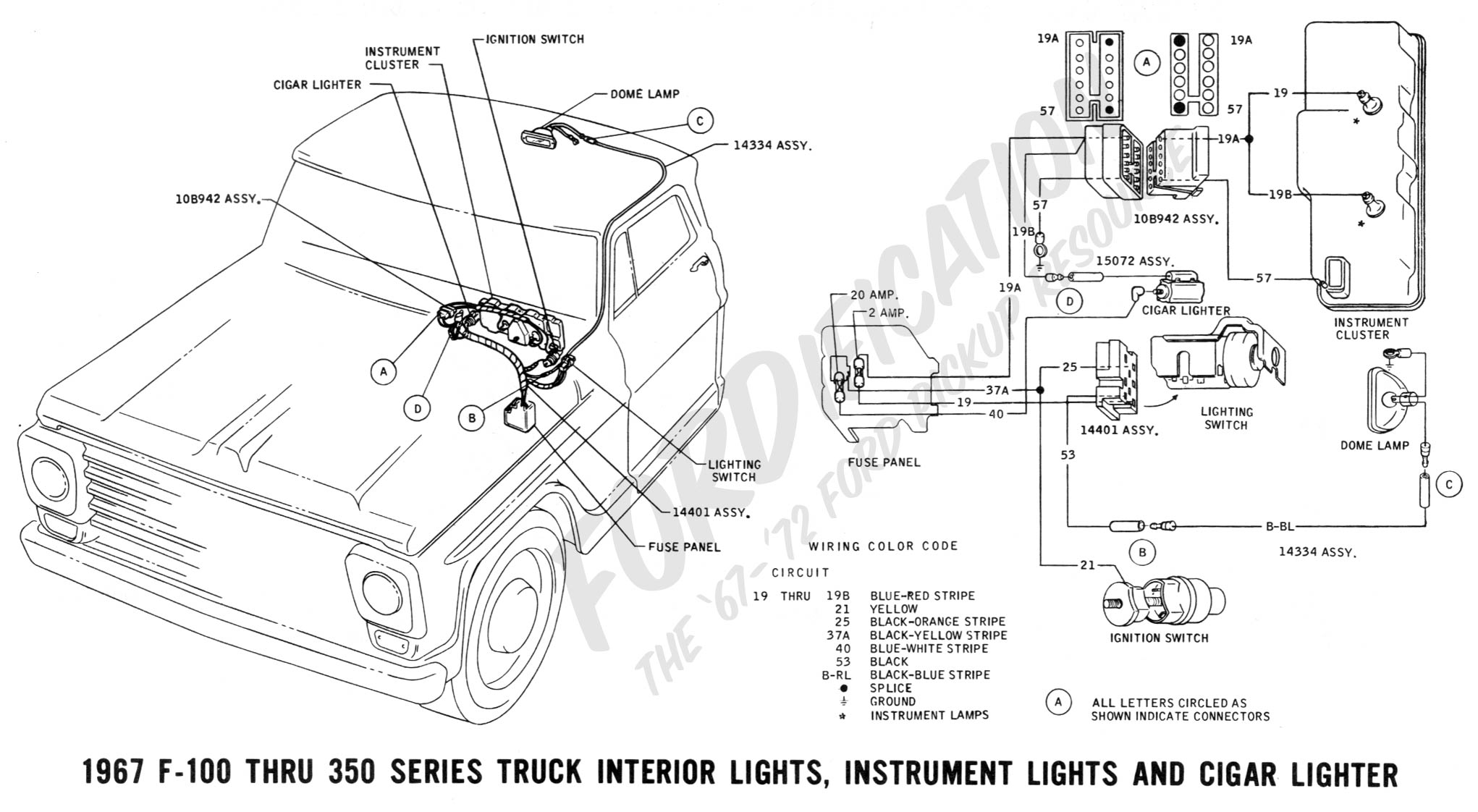 wiring 1967interiorlights wiring diagram for 6 4 ford wipers ford 4 6 engine swap wiring Chevrolet 350 Wiring Diagram at panicattacktreatment.co