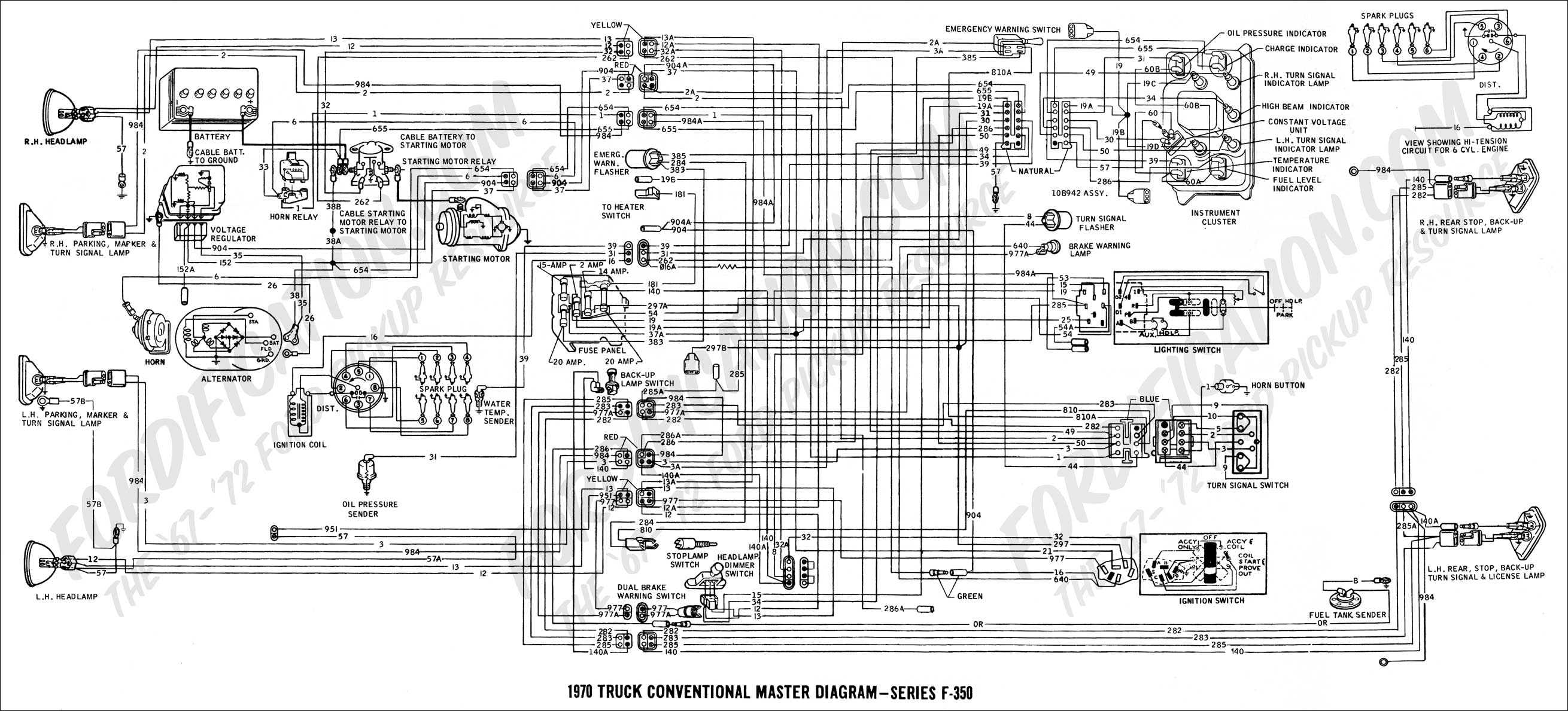 wiring diagram 70F350_master ford truck technical drawings and schematics section h wiring 1999 f250 trailer wiring diagram at webbmarketing.co