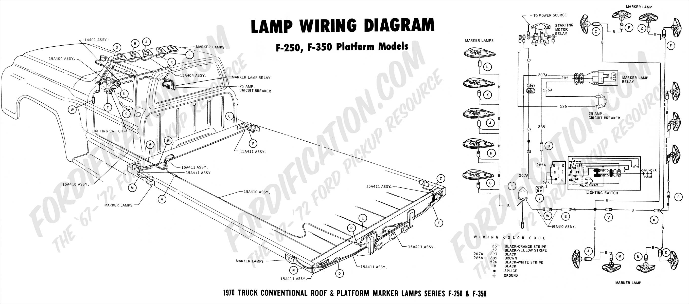 ford truck technical drawings and schematics section h wiring 1970 f 250 f 350 power pak wiring
