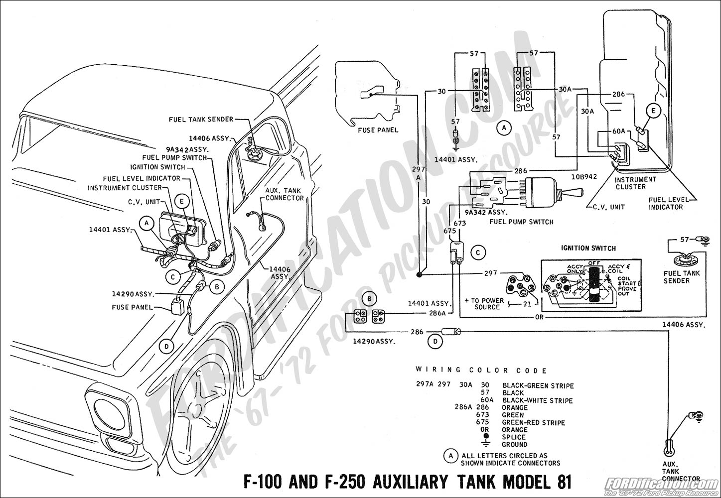 wiring_69aux fuel ford truck technical drawings and schematics section h wiring Ford F-250 Wiring Diagram at bayanpartner.co