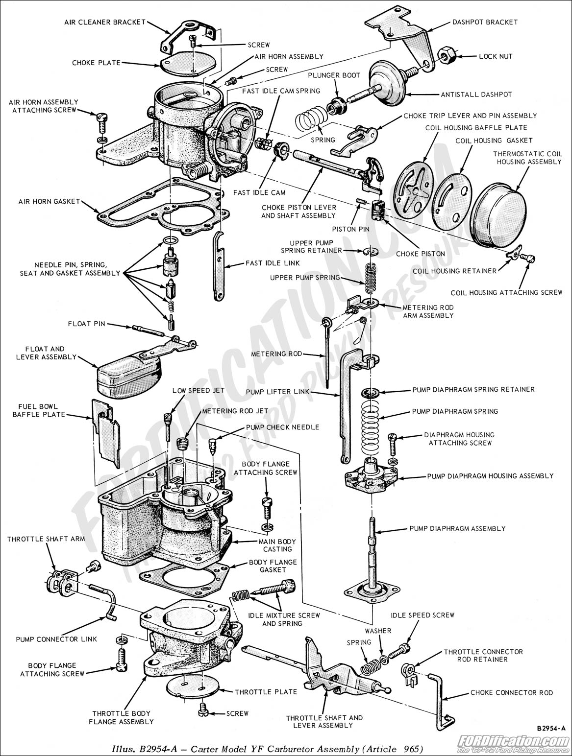 Carter w 1 carburetor diagram