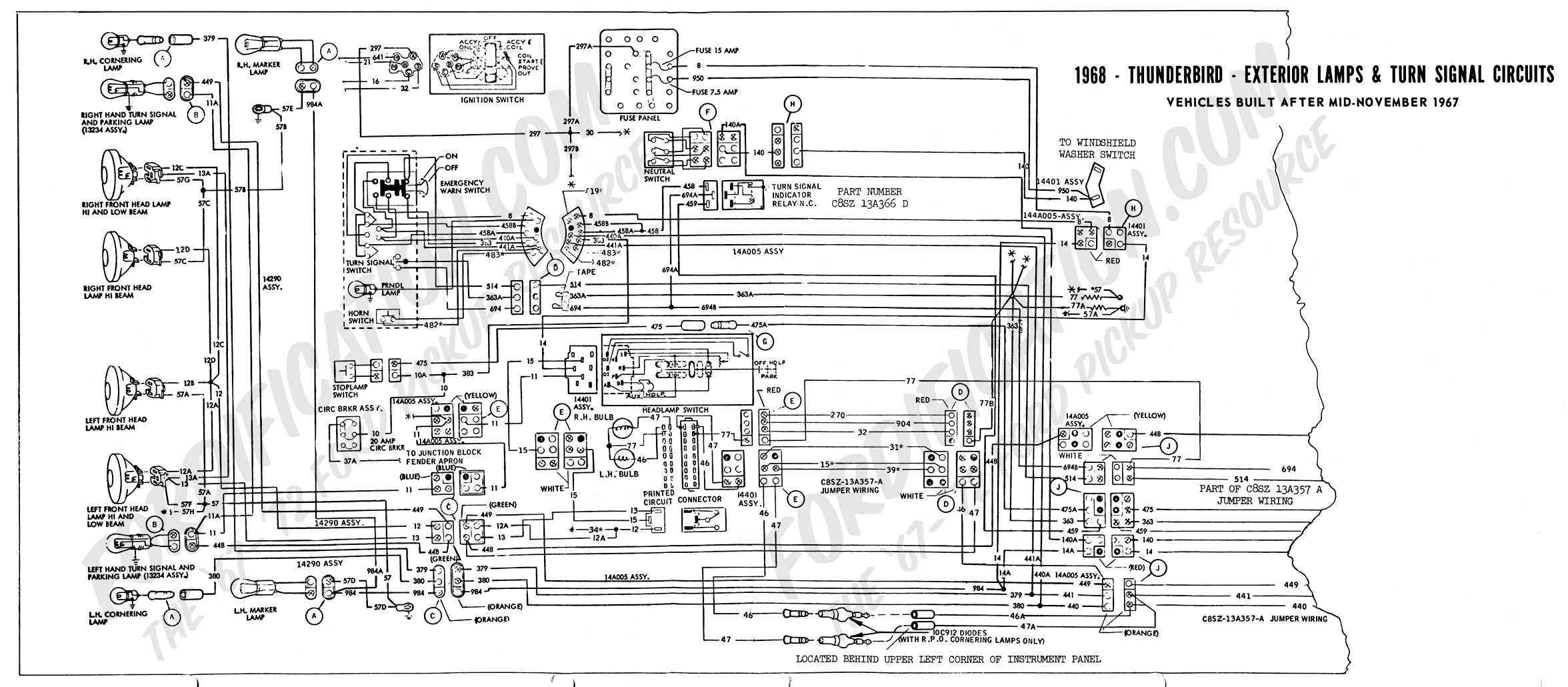 1968 Thunderbird Wiring Diagram Wire Data Schema Corvette Schematic Turn Signal Diy Enthusiasts Rh Okdrywall Co 1970 1966