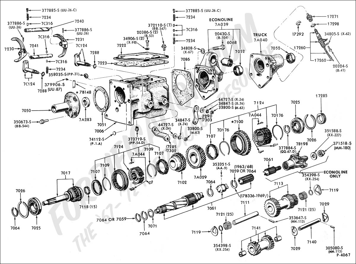 Ford Transmission Linkage Diagram Schematics Aod Wiring Truck Technical Drawings And Section G Transmissions Used