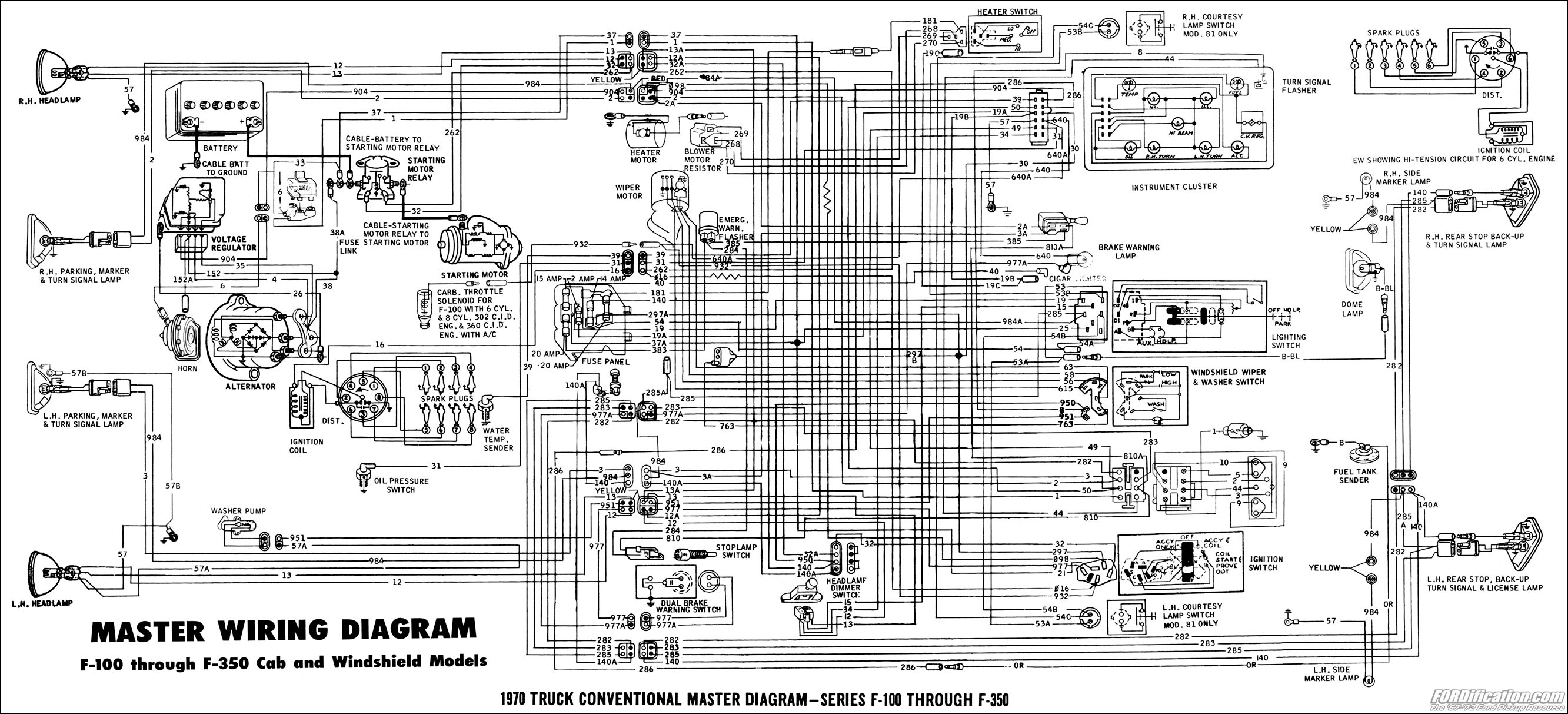 1971 Ford F100 Wiring Lamp Schematics Diagram 1988 Mustang Cruise Control 1978 Pickup Detailed 1965 Alternator 1970 F