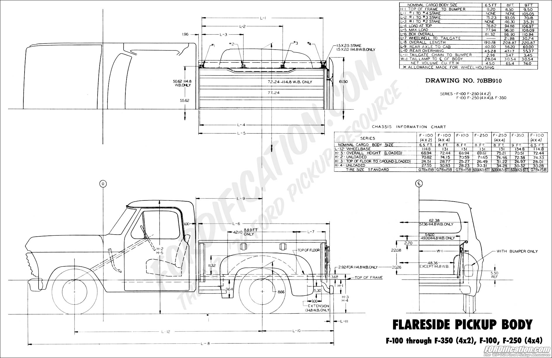 76 ford f100 wiring diagram 1970 body builder s layout book fordification com  1970 body builder s layout book fordification com