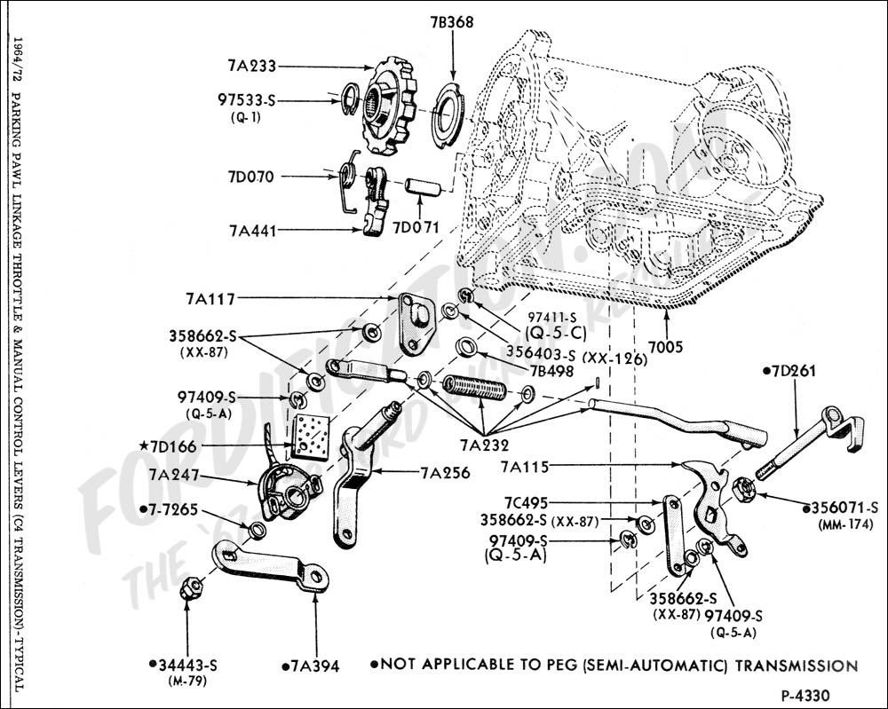 ford truck technical drawings and schematics - section g - drivetrain  (transmission, clutch, transfer case, etc )