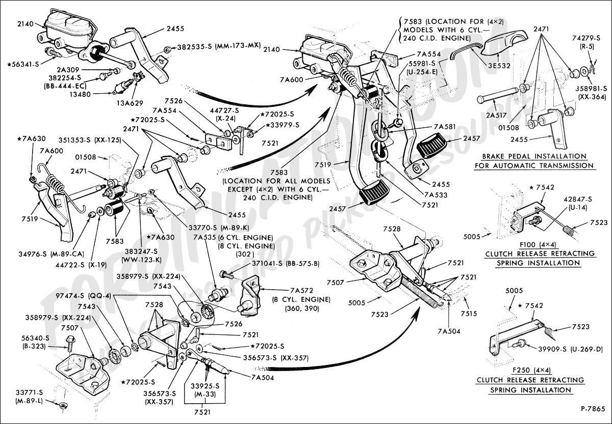Clutchbrake Pedals on 78 ford f100 wiring diagram