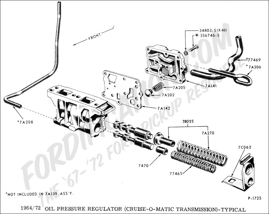 ford o matic parts diagram