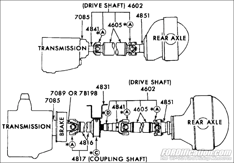 ford truck part numbers - coupling shaft - f250  2wd  u0026 4wd   u0026 f350