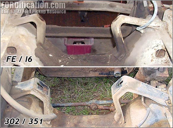 Comparison Photos of Engine Perches - FORDification com