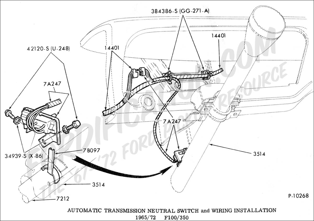F100 65 Ford Econoline Wiring Diagram Library 1965 Schematic Truck Technical Drawings And Schematics Section G Drivetrain Transmission Clutch