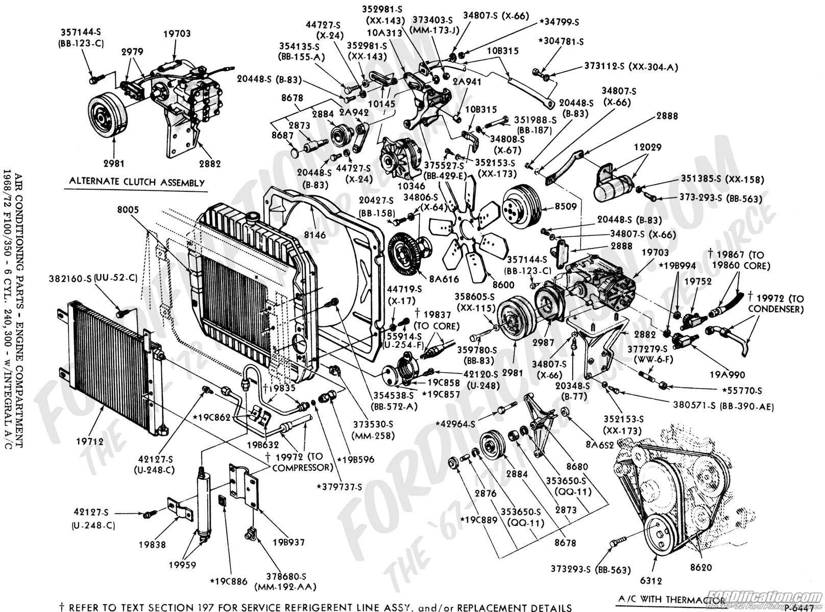 engine compartment diagram ford truck part numbers (air conditioning, factory ... f450 engine compartment diagram