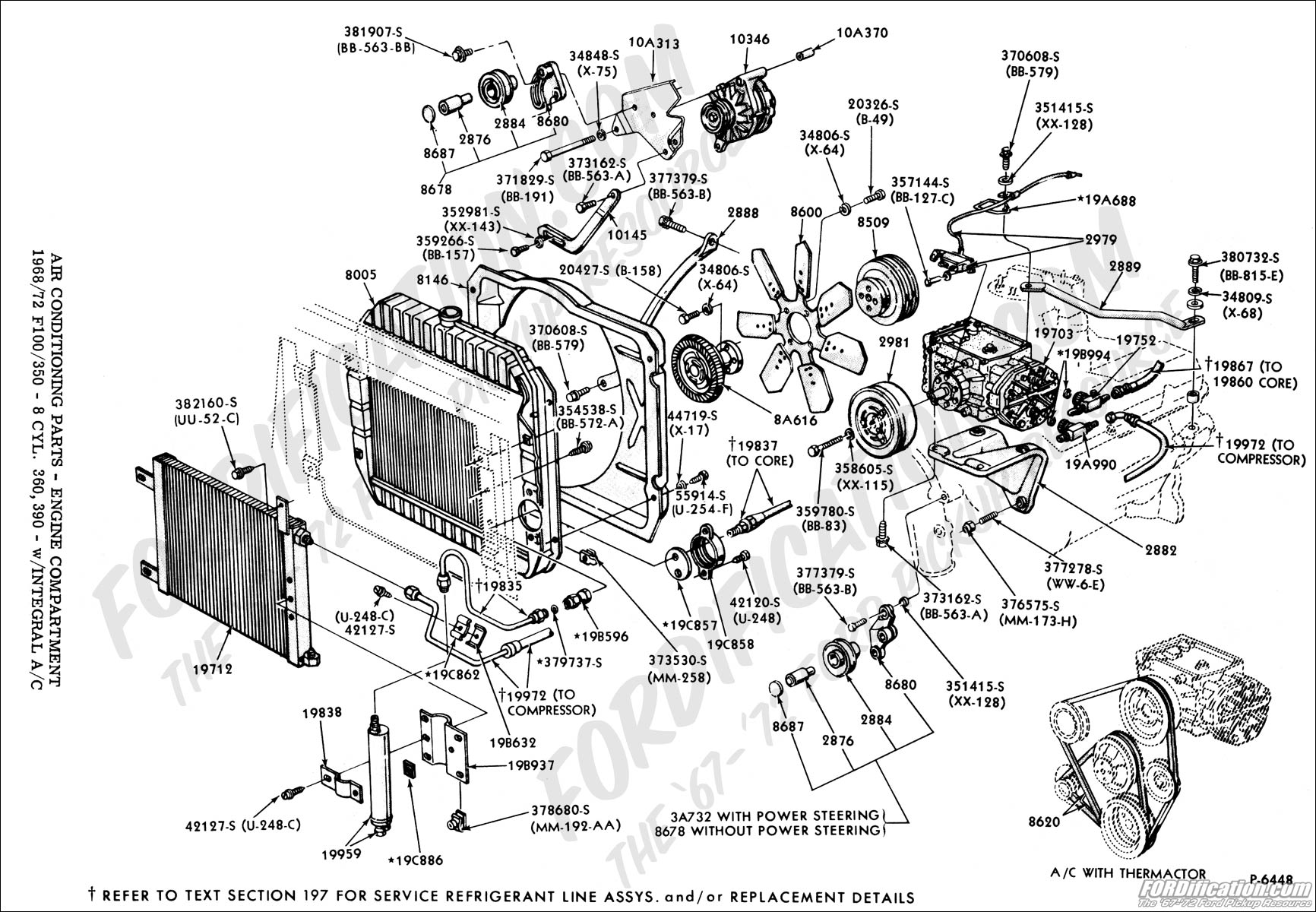 Ford Truck Technical Drawings And Schematics Section F Heating Engine Parts Diagram Names Cooling Air Conditioning