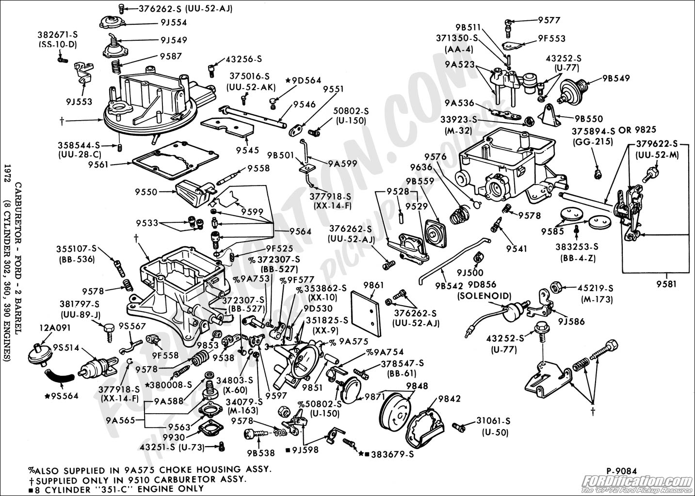 diagram 1 barrel carburetor for ford 1967