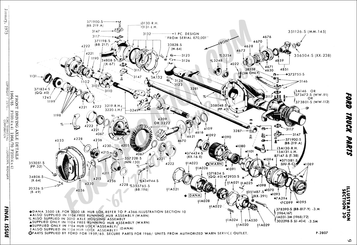 ford truck technical drawings and schematics - section a ... ford f 350 4x4 front axle diagram 2003 f350 front axle diagram #8