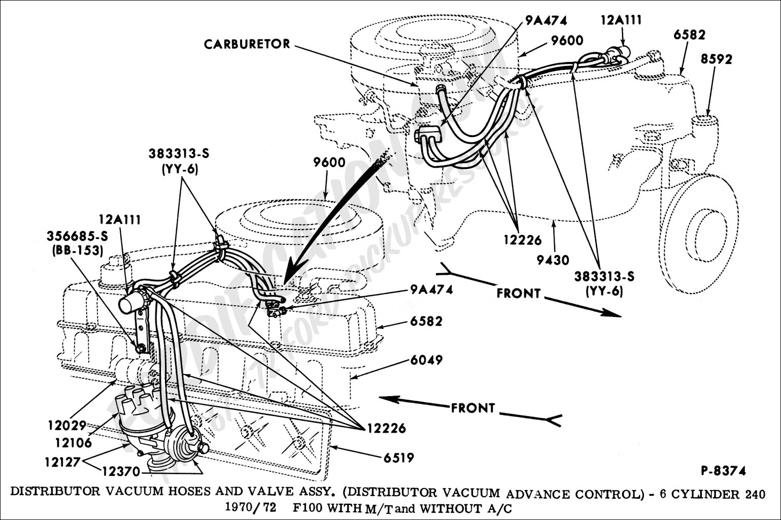 1968 F 250 Engine Diagram Wiring Library Ford Pickup Truck Technical Drawings And Schematics Section I Electrical