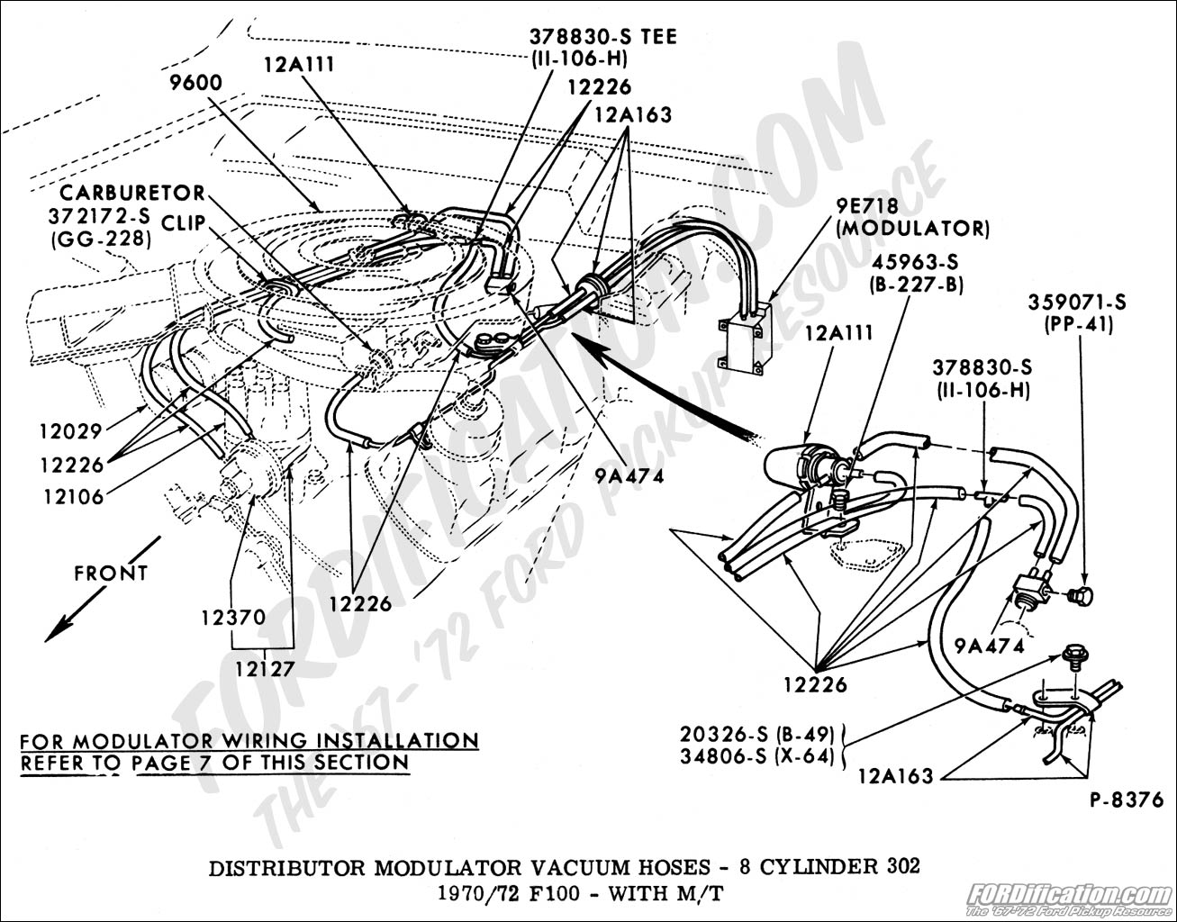 ford truck technical drawings and schematics section i 1986 Ford 460 Vacuum  Diagram 1986 Ford F-150 4.9L Ignition Wiring Diagram