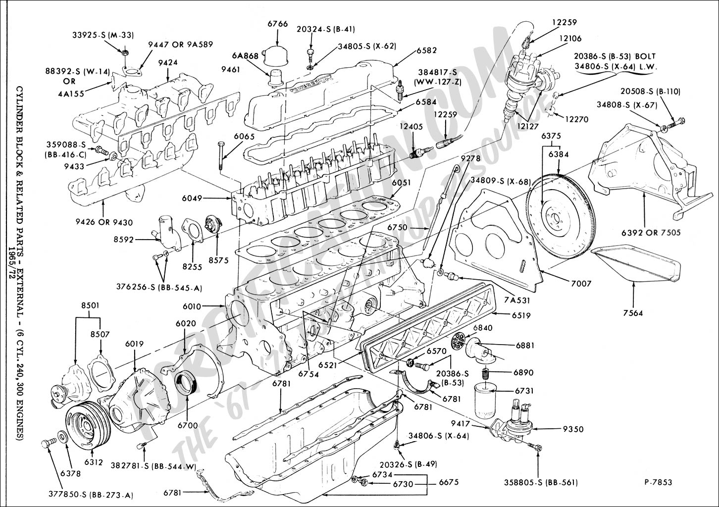 Ford 351 Windsor Engine Diagram Air Intake besides Fuse Box Diagram For 2007 Chrysler Sebring also M 12259 C460 besides Single Point Distributor Wiring Diagram together with Chevy 454 Or Ford 460 Motorhome Engine. on ford 460 crate engine
