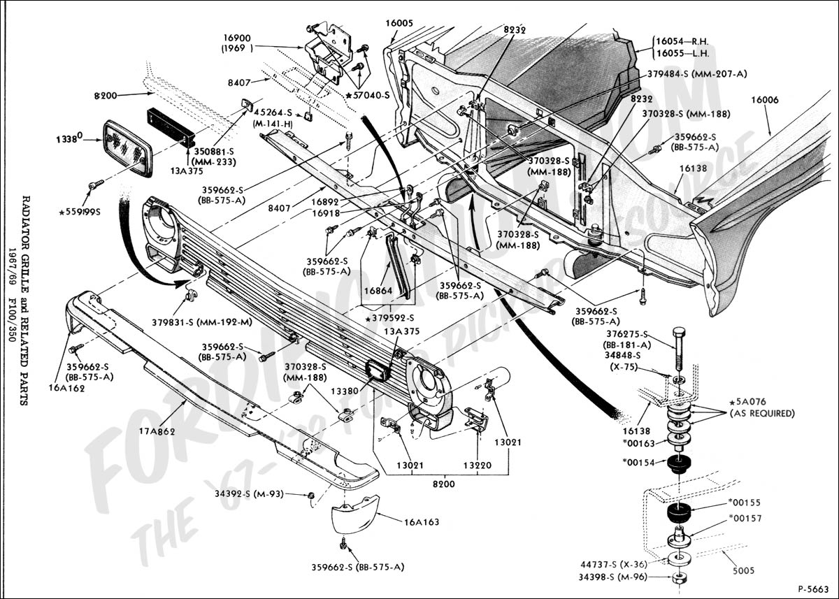 ford truck technical drawings and schematics section d frame rh  fordification com 1953 Ford F100 Truck Parts 1953 Ford F100 Truck Parts