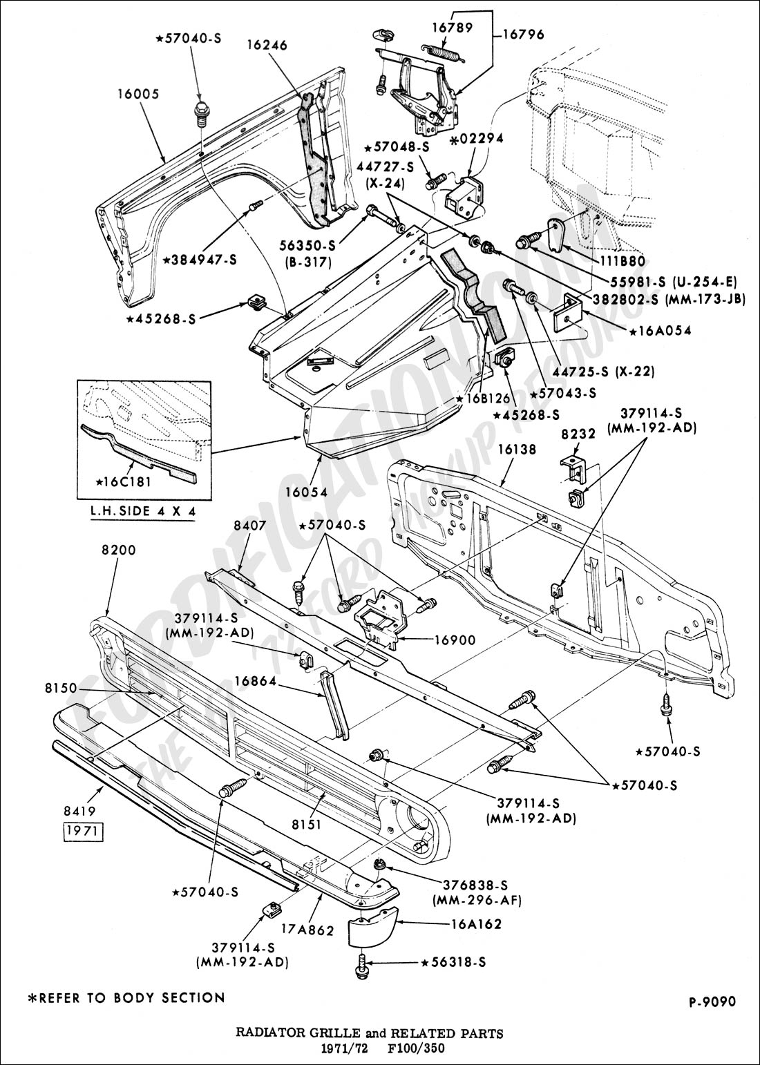 1967 ford rear end diagram