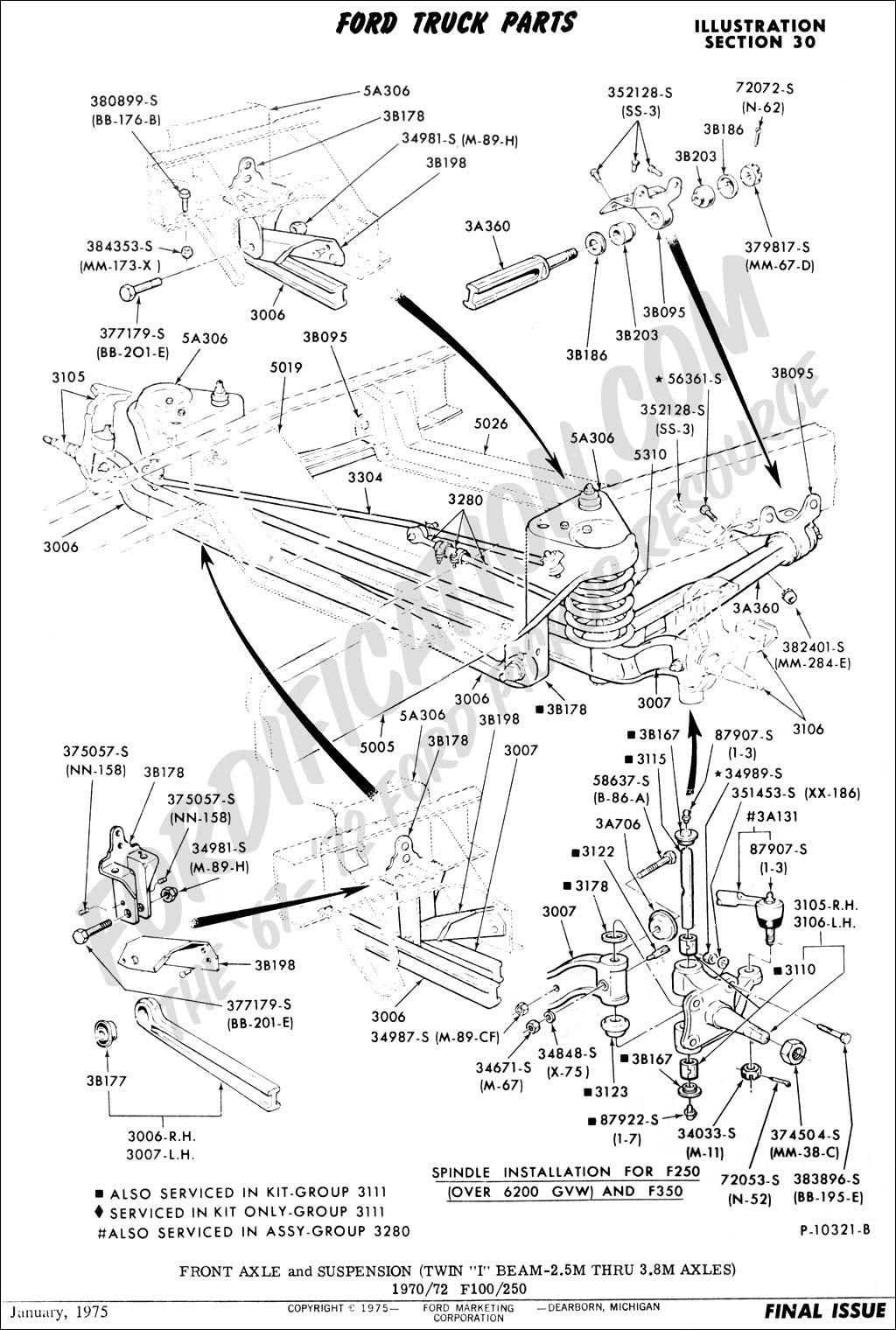 Ford F 250 Front Suspension Diagram Schematics 95 Fuse Box Truck Technical Drawings And Section A Panel