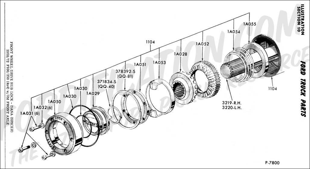 ford 4x4 hubs diagram