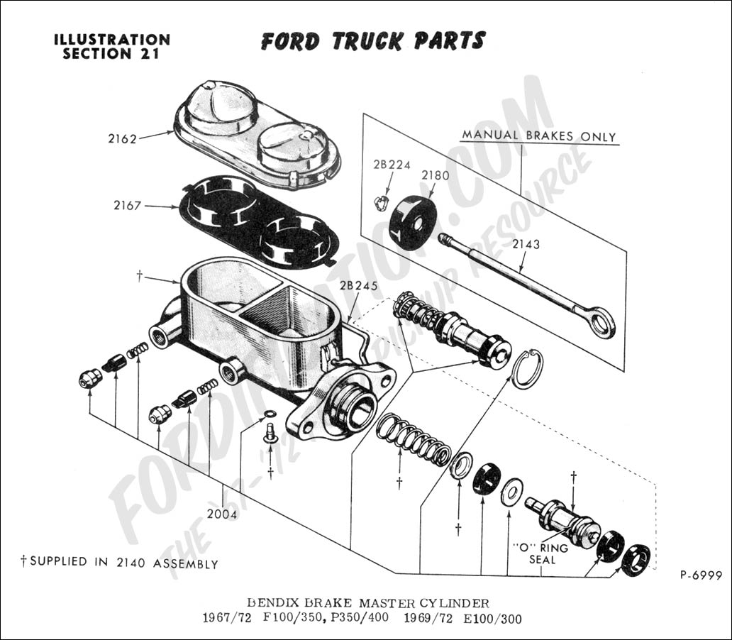1990 ford f700 truck wiring diagram ford f700 brake system diagram ford truck technical drawings and schematics section b #9