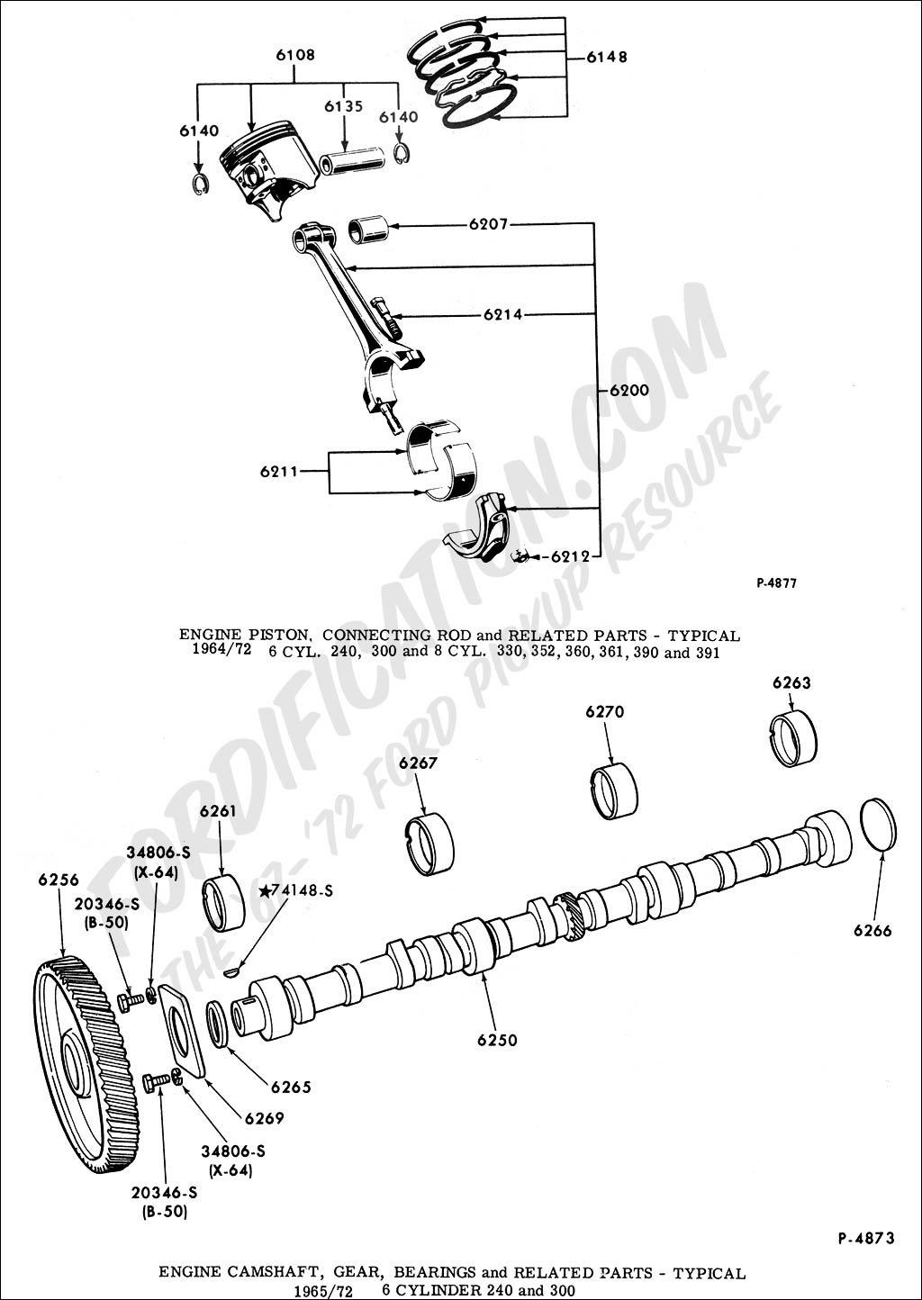 Ford Truck Technical Drawings and Schematics - Section E - Engine