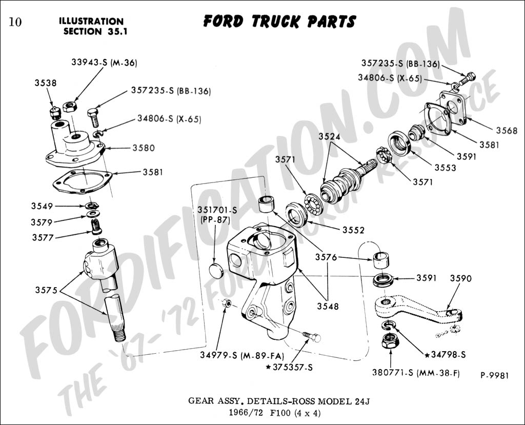 Ford Truck Technical Drawings and Schematics - Section C - Steering Systems  and Related Components