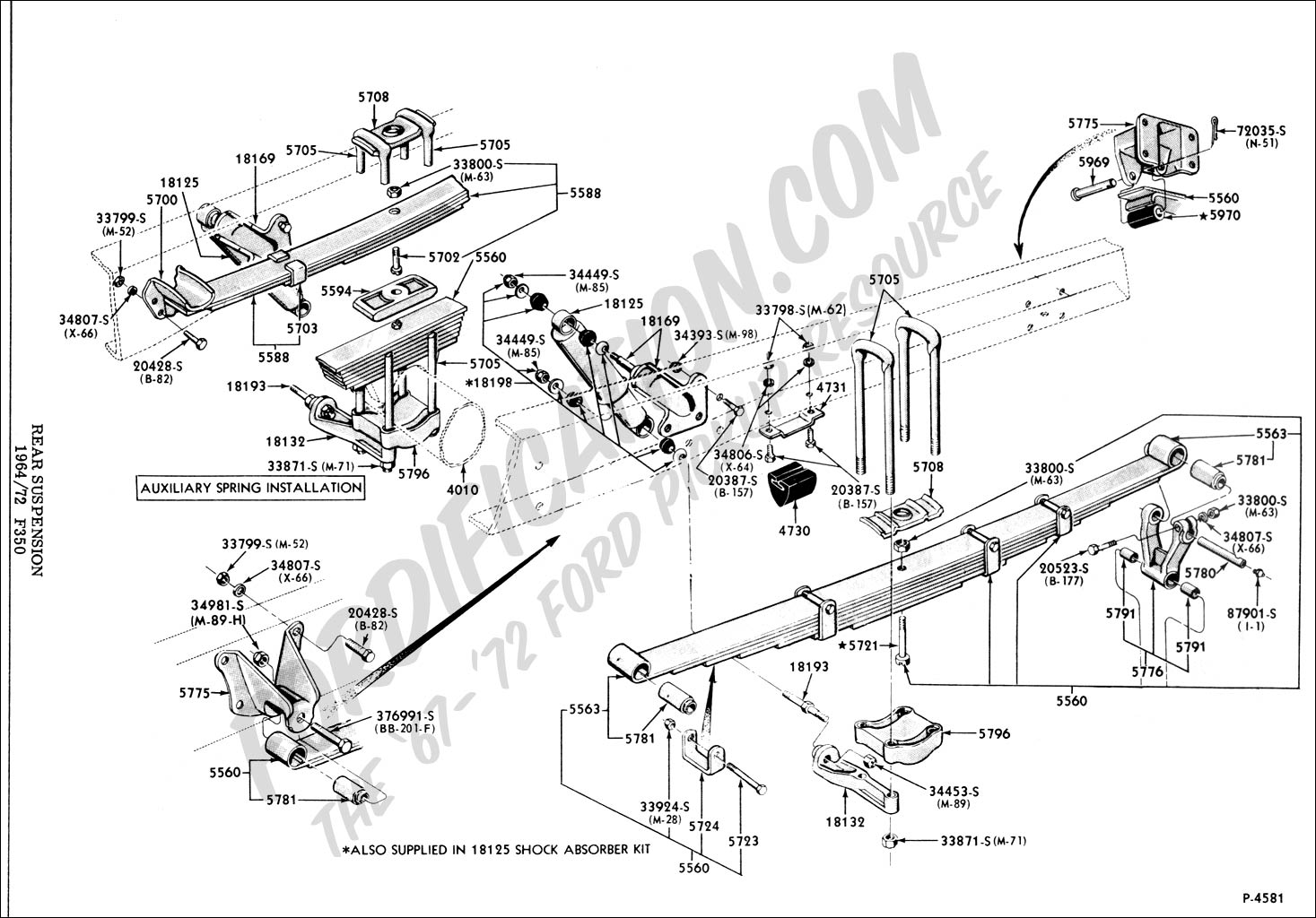 Susp Rearf on 1965 Mustang Power Steering Diagram
