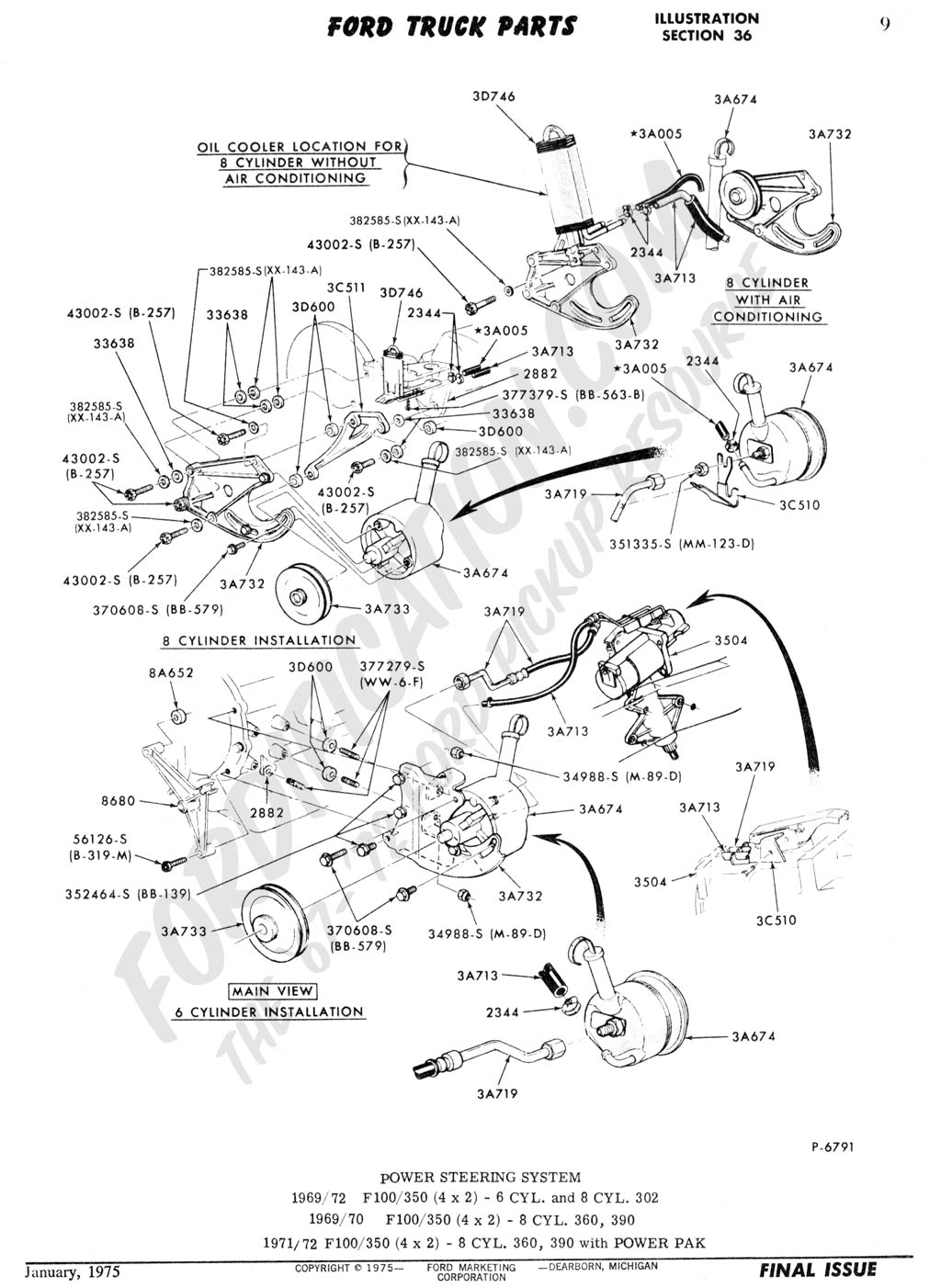1972 F250 4x4 Steering Diagram Web About Wiring 1970 Ford Highboy Truck Technical Drawings And Schematics Section C Rh Fordification Com 1967 F 250