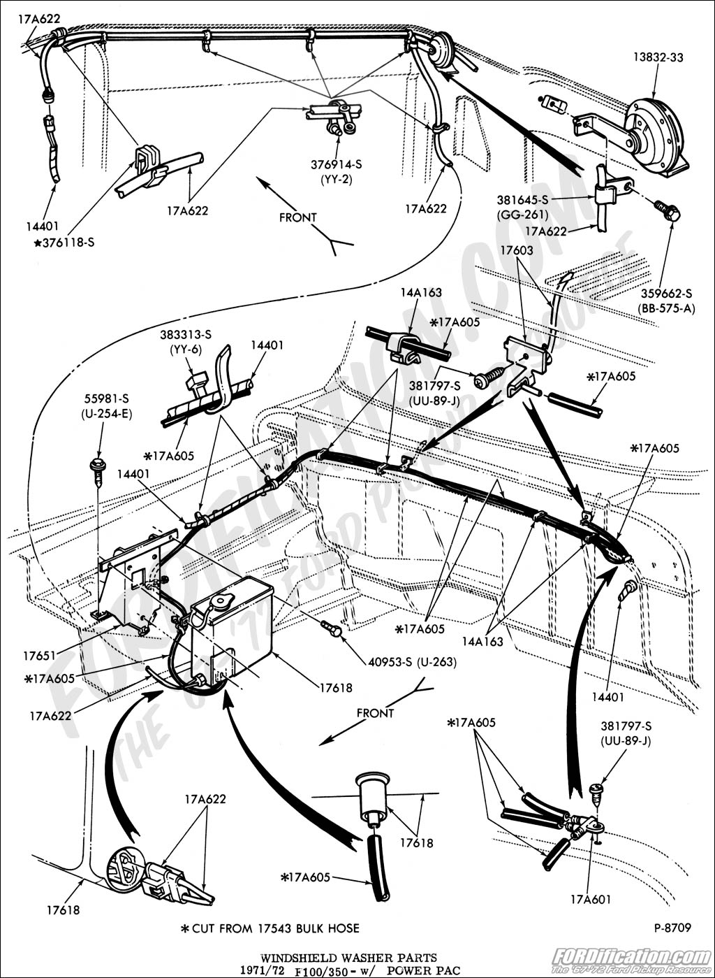 Windshieldwshr Pwrpak on 1972 Ford F100 Wiring Diagram