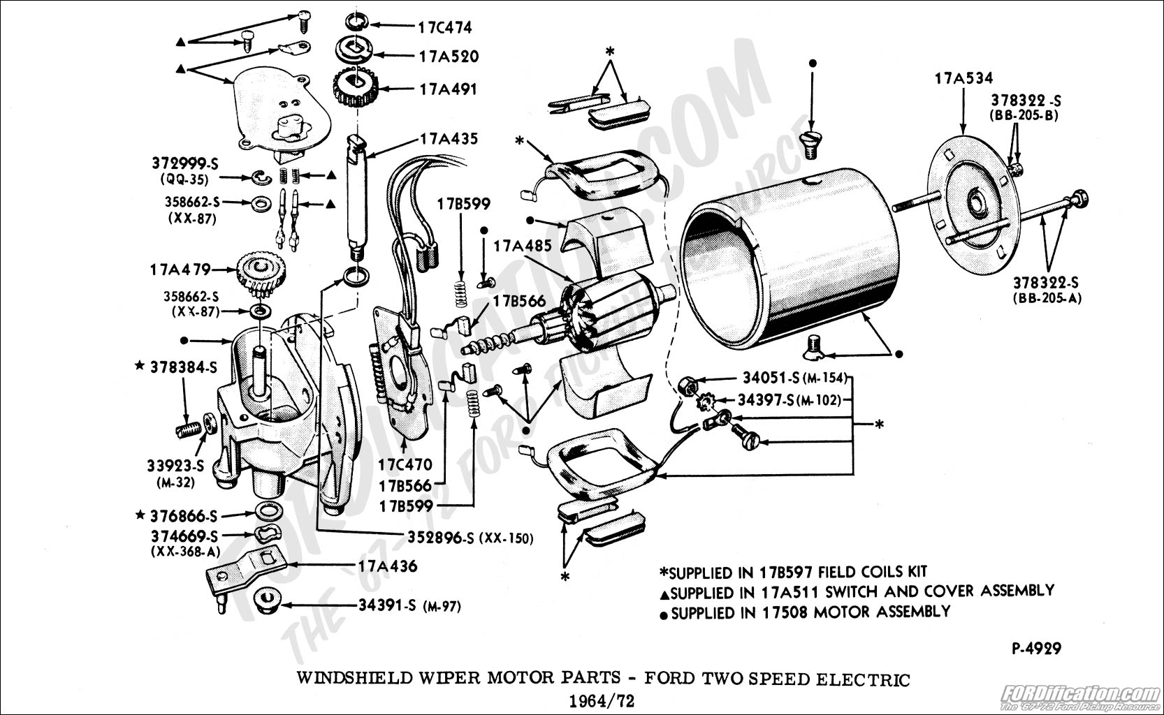Ford Truck Technical Drawings And Schematics Section I Wiring Jeep Parts Windshield Wiper Motor