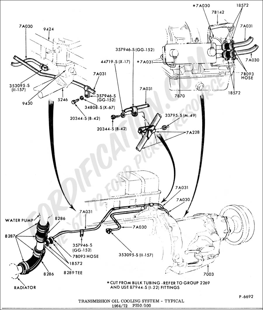 Ford Truck Technical Drawings And Schematics Section G Neutral Safety Switch Wiring Diagram Drivetrain Transmission Clutch Transfer Case Etc