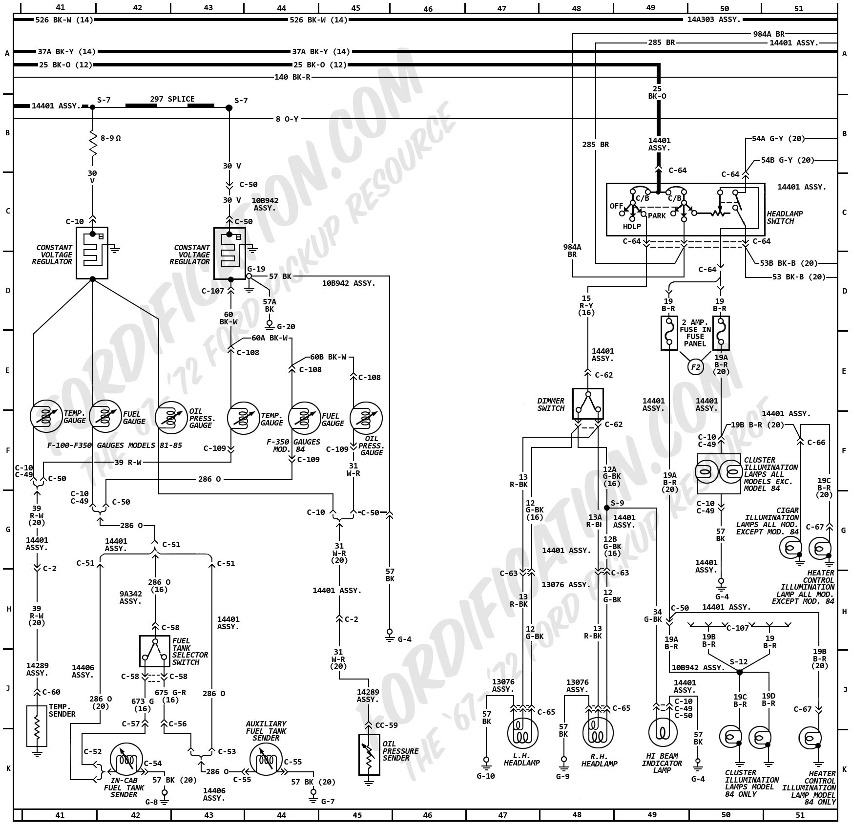 Ford Wiring Schematic Diagrams Diagram 1959 F100 1941 Truck 9n 1972 Fordification Com Schematics Free Electrical
