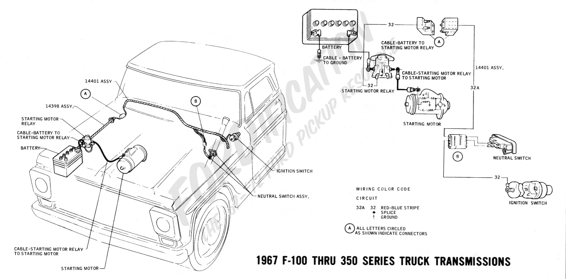 Start Wiring Diagram In A1972 F100 Ford Reinvent Your 1953 Chevy Truck Schematics Technical Drawings And Section H Rh Fordification Com 1965