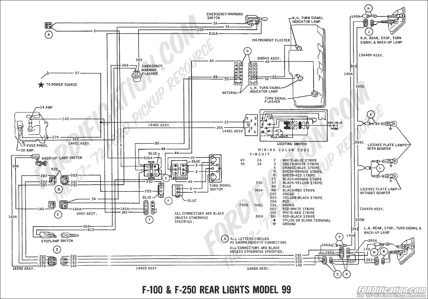 ford truck technical drawings and schematics section h 1977 Ford Turn Signal Switch 1973 Ford Turn Signal Switch